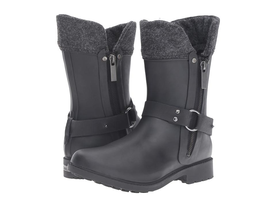 Chooka - Dressage Mid Rain Boot (Black) Women's Rain Boots