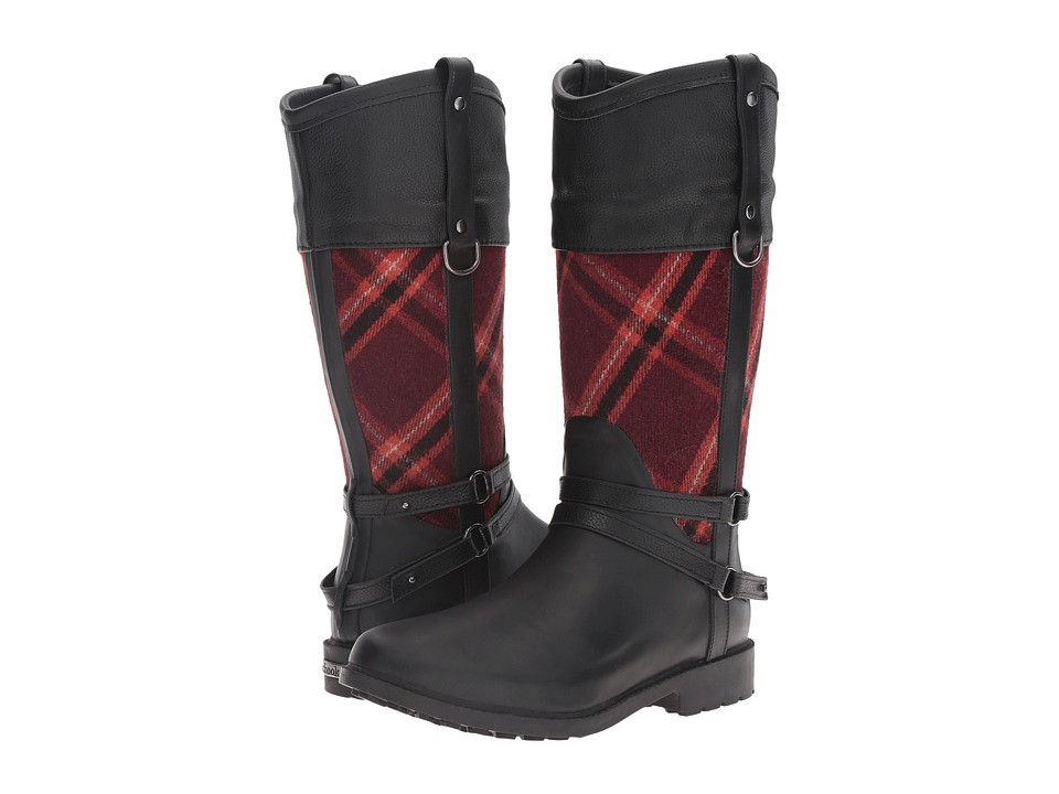 Chooka - Canter Plaid Riding Rain Boot (Red) Women's Rain Boots