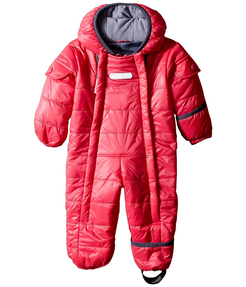 Kamik Kids - Topaz Snowsuit (Infant) (Cerise) Kid's Snow Bibs One Piece