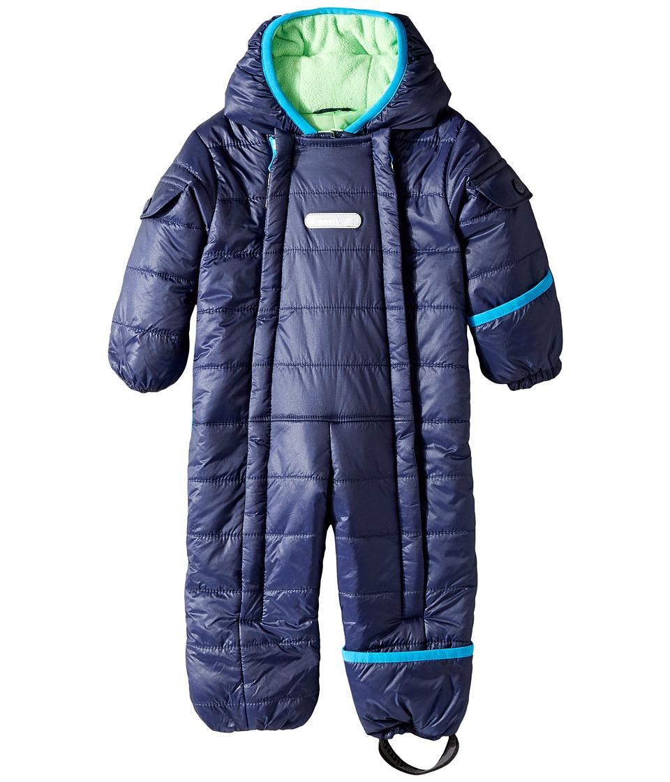 Kamik Kids - Topaz Snowsuit (Infant) (Peacoat) Kid's Snow Bibs One Piece