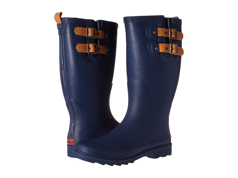 Chooka Top Solid Rain Boot (Deep Navy) Women