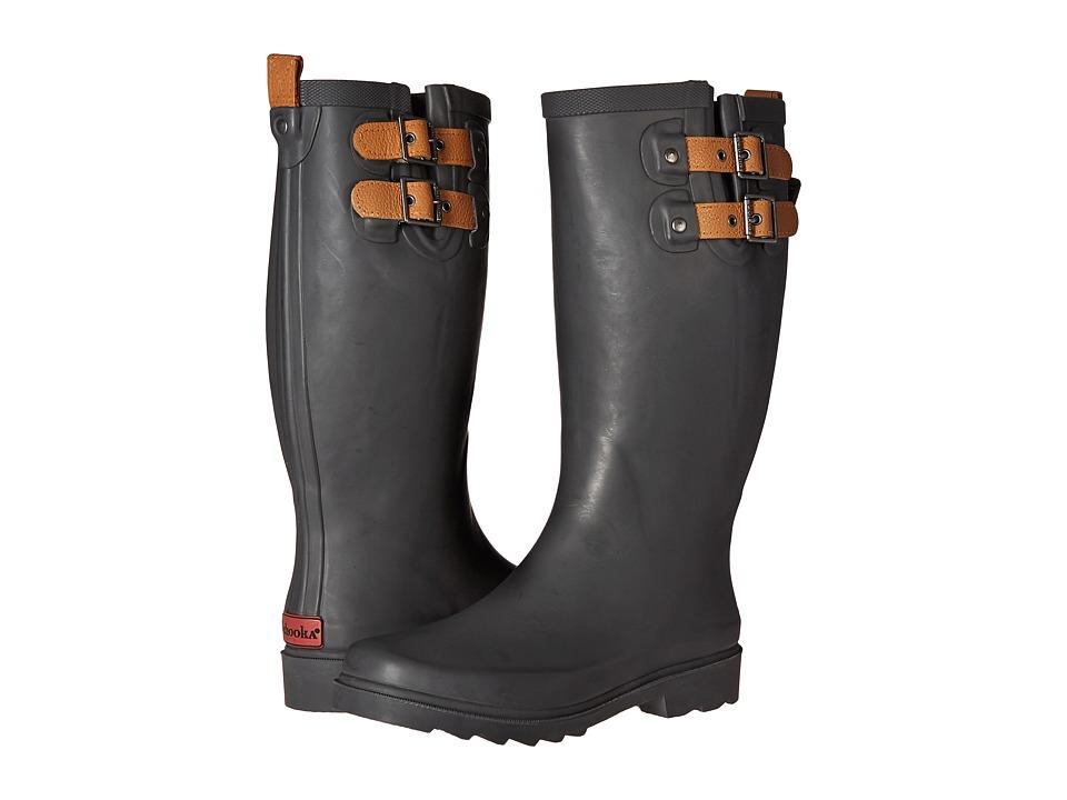 Chooka - Top Solid Rain Boot (Dark Gray) Women's Rain Boots