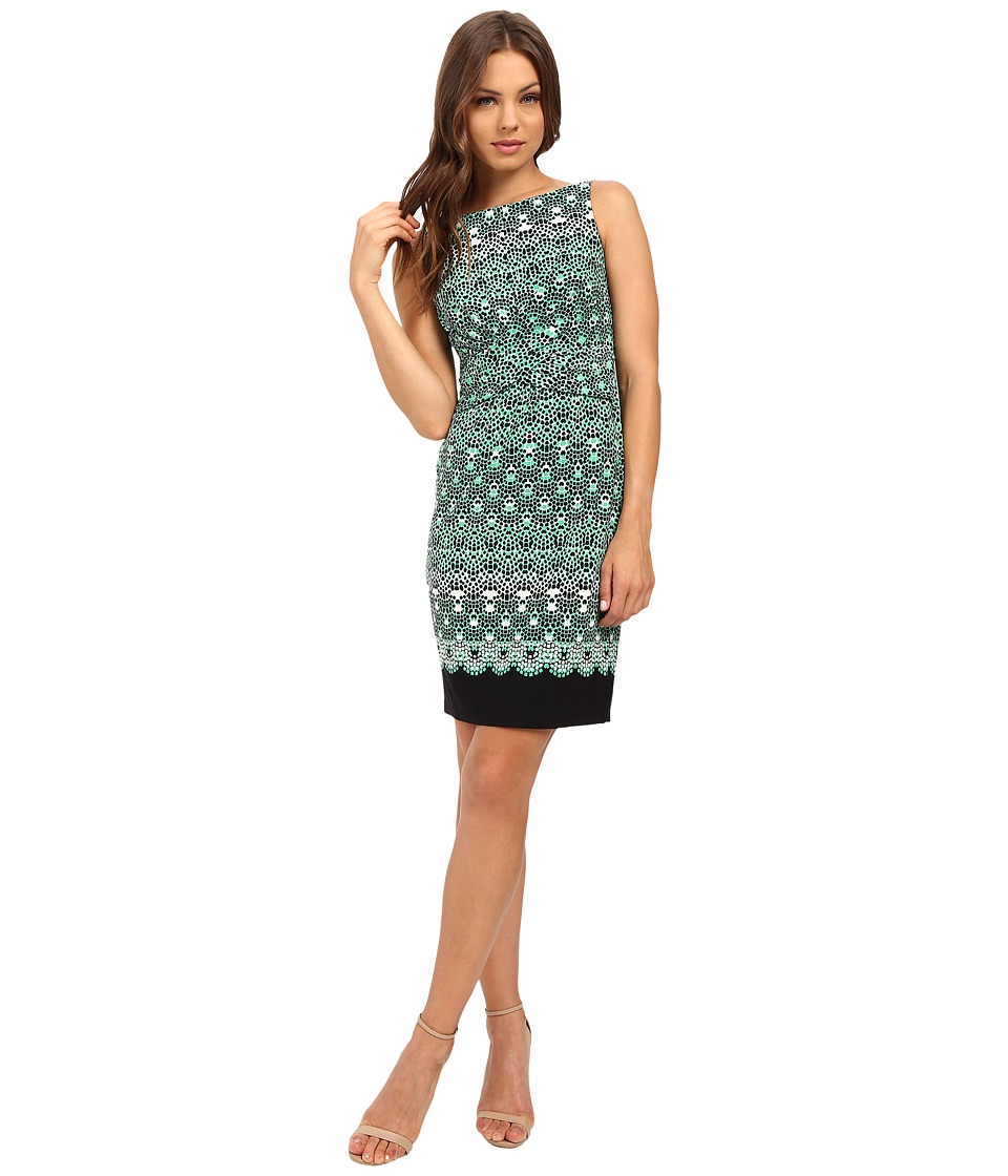 Donna Morgan - Twist Front Matte Jersey Dress (Turf Multi) Women's Dress