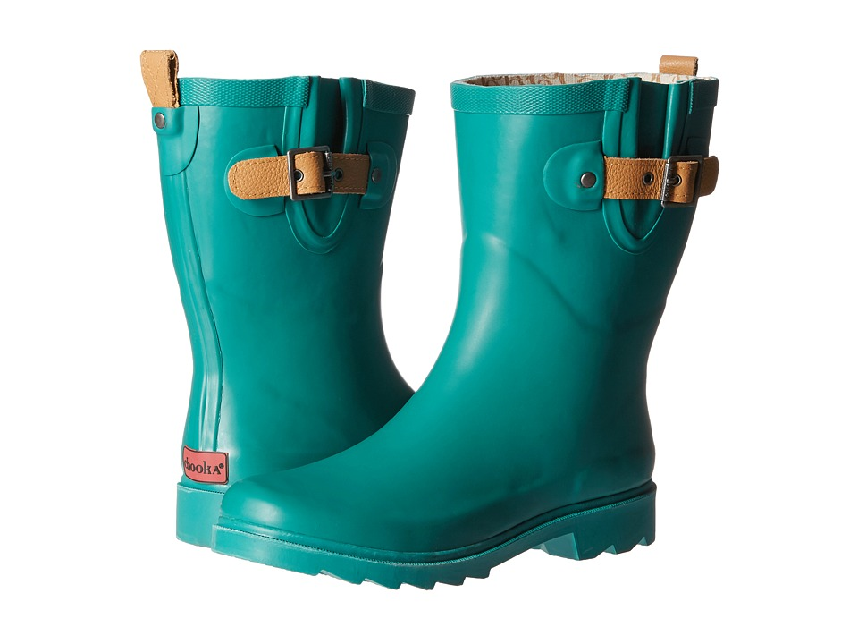 Chooka - Top Solid Mid Rain Boot (Jade) Women's Rain Boots