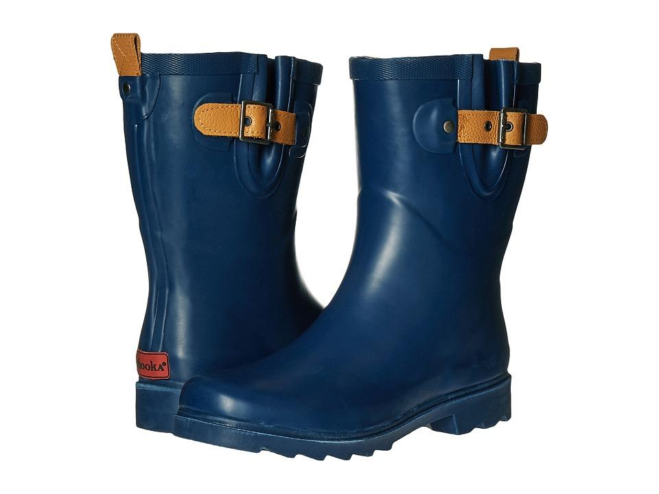 Chooka - Top Solid Mid Rain Boot (Deep Navy) Women's Rain Boots