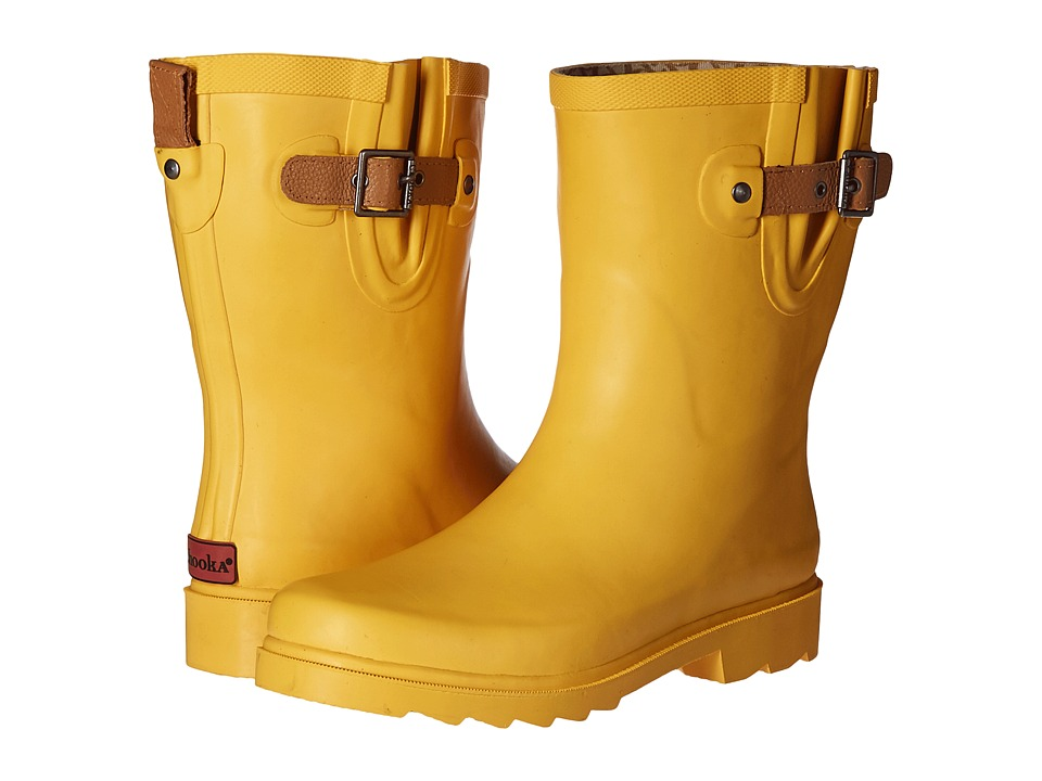 Chooka Top Solid Mid Rain Boot (Marigold) Women