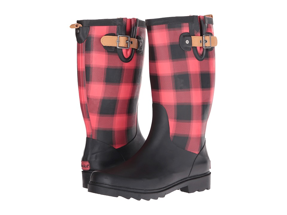 Chooka - Lumber Buffalo Plaid Rain Boot (Red) Women's Rain Boots