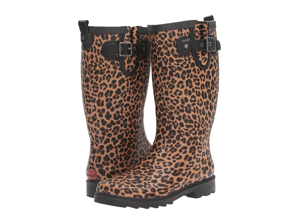 Chooka - Lavish Leopard Rain Boot (Tan) Women's Rain Boots
