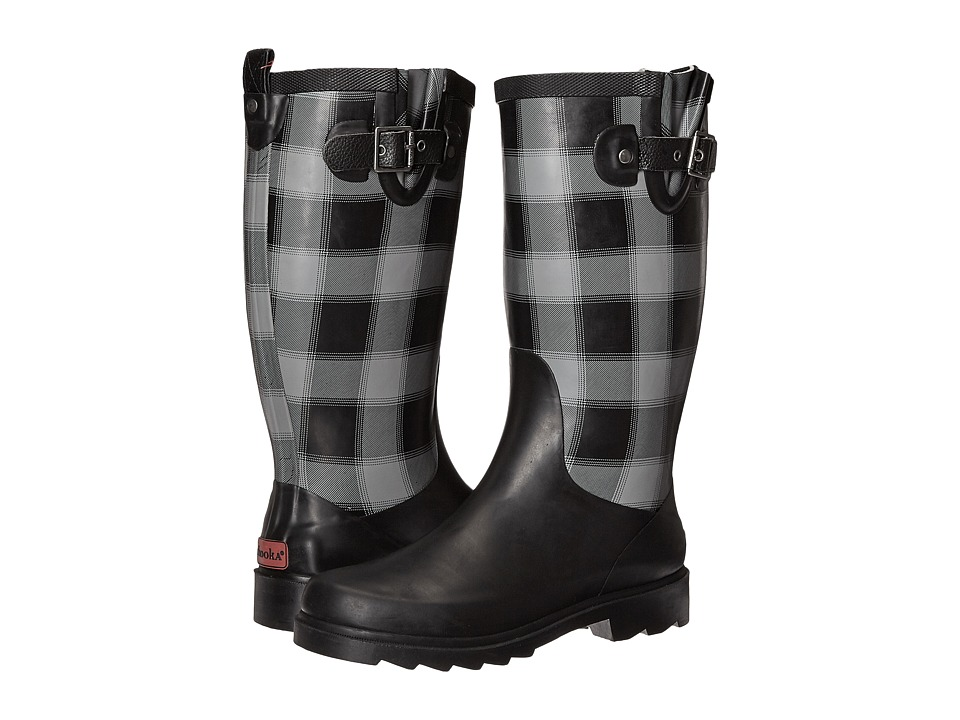 Chooka - Lumber Buffalo Plaid Rain Boot (Charcoal) Women's Rain Boots
