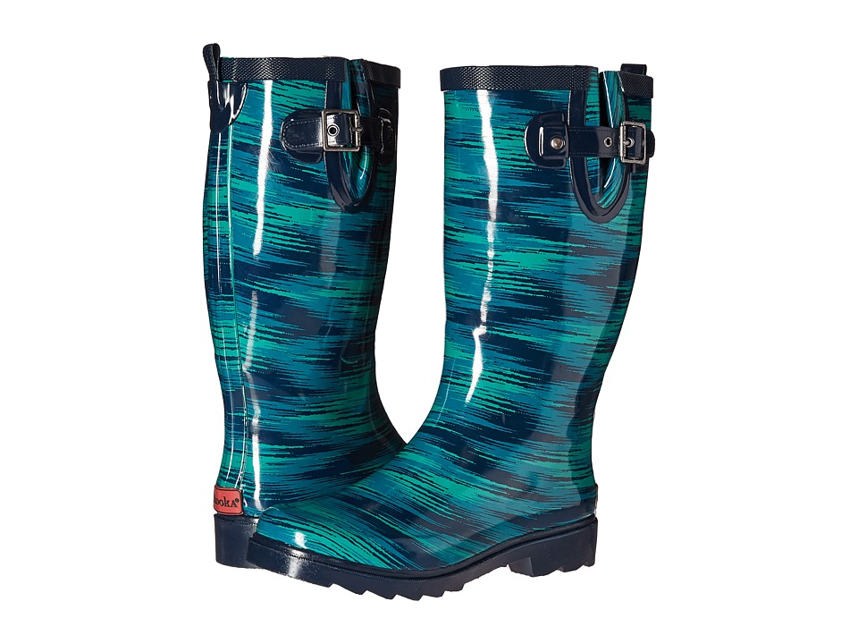 Chooka Electric Ikat Rain Boot (Navy) Women
