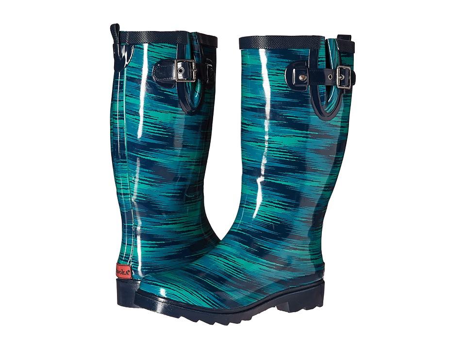 Chooka - Electric Ikat Rain Boot (Navy) Women's Rain Boots