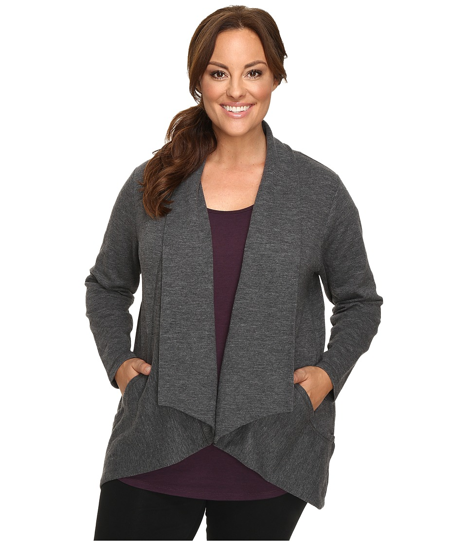 Lucy - Extended Tranquility Slub Wrap (Asphalt Heather) Women's Sweater