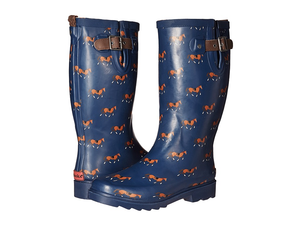 Chooka - Horse Trot Rain Boot (Navy) Women's Rain Boots
