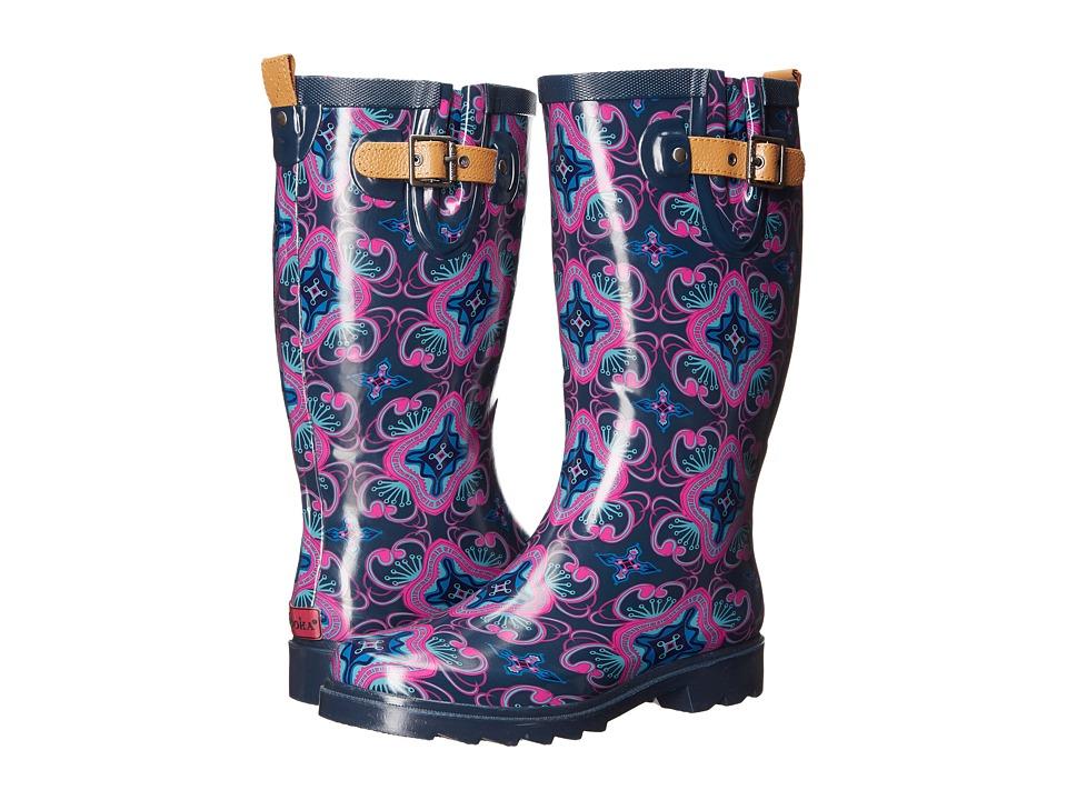 Chooka Magic Carpet Rain Boot (Navy) Women