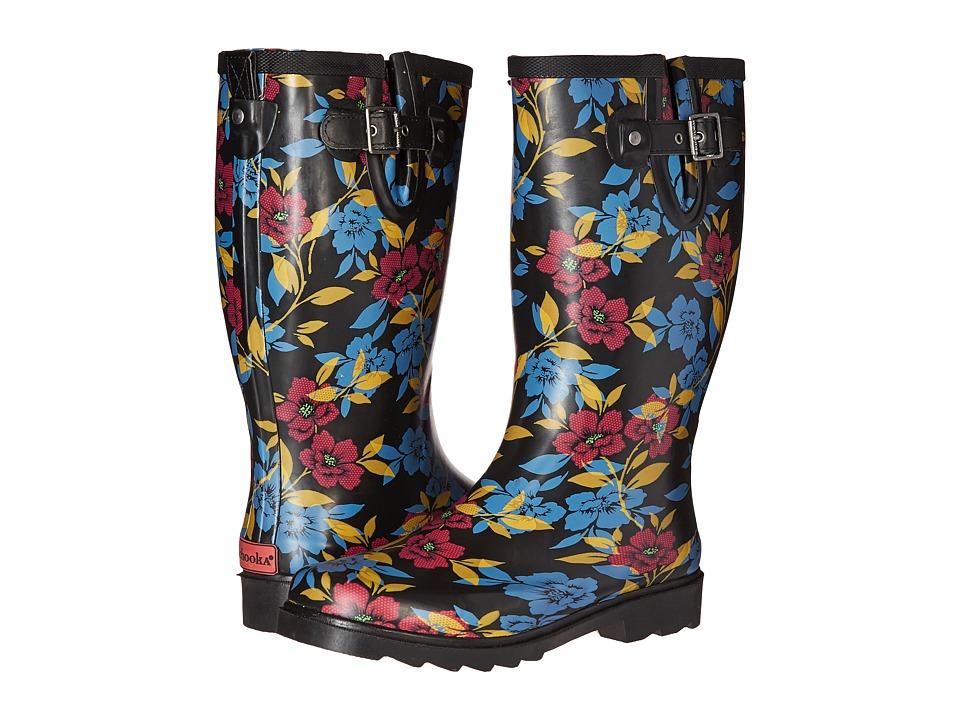 Chooka - Bohemian Night Rain Boot (Black) Women's Rain Boots