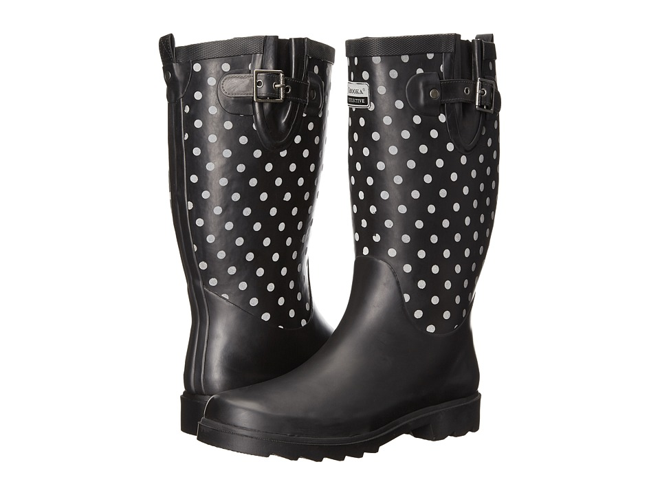 Chooka - Flash Dot Rain Boot (Black) Women's Rain Boots