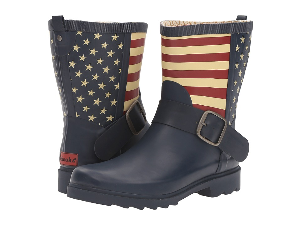 Chooka - Election Mid Rain Boot (Navy) Women's Rain Boots