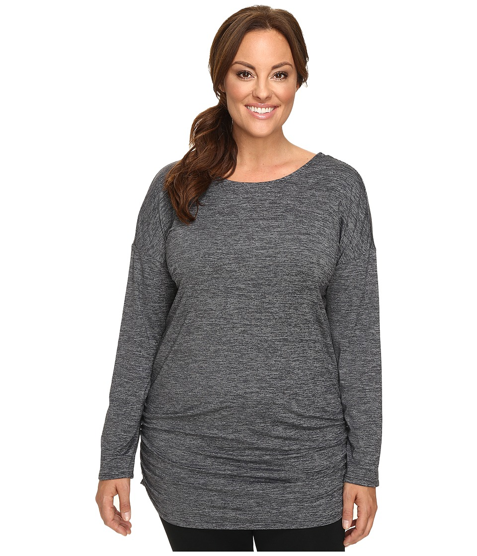 Lucy - Extended Manifest Long Sleeve Tunic (Lucy Black Micro Stripe) Women's Long Sleeve Pullover