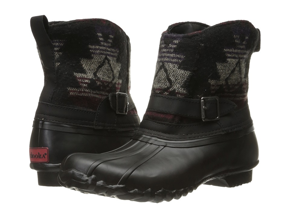 Chooka - Step In Duck Boot Aztec (Black) Women's Rain Boots