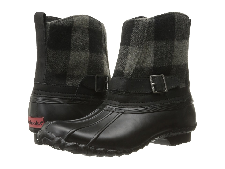 Chooka - Step In Duck Boot Buffalo (Charcoal) Women's Rain Boots