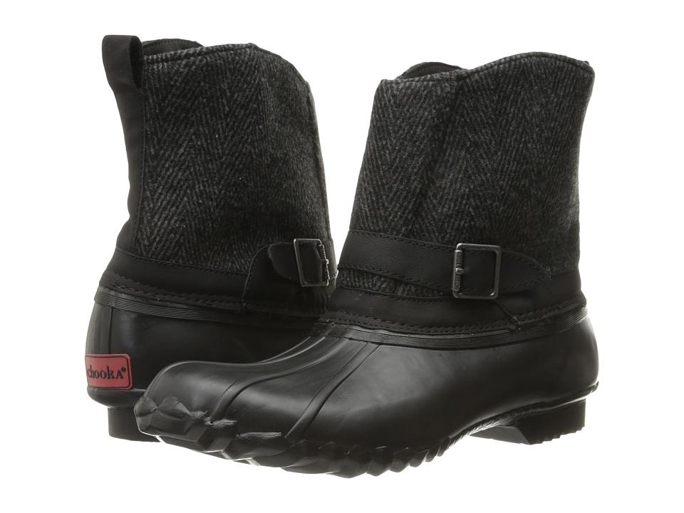 Chooka - Step In Duck Boot Herringbone (Black) Women's Rain Boots