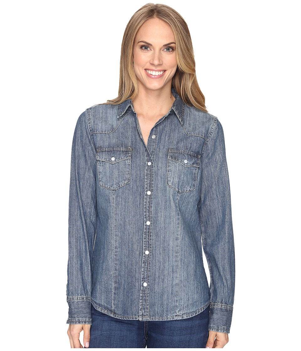 Stetson - Denim Western Blouse (Blue) Women's Blouse