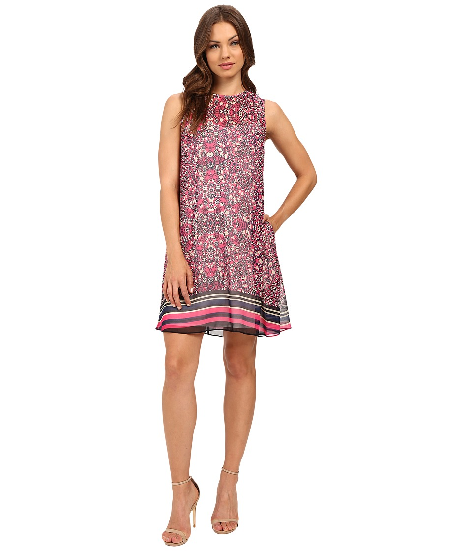 Donna Morgan - A Line Printed Chiffon A-Line Dress (Pink Multi) Women's Dress