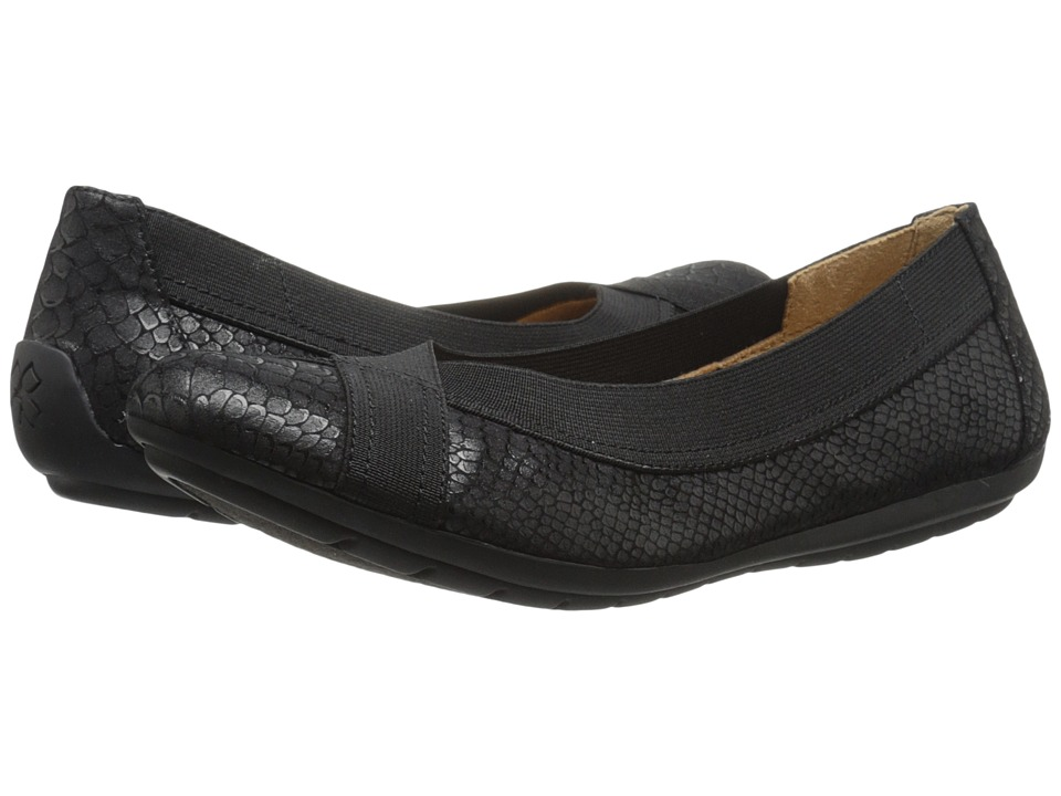 Naturalizer - Uphold (Black Foil Printed Snake) Women's Flat Shoes