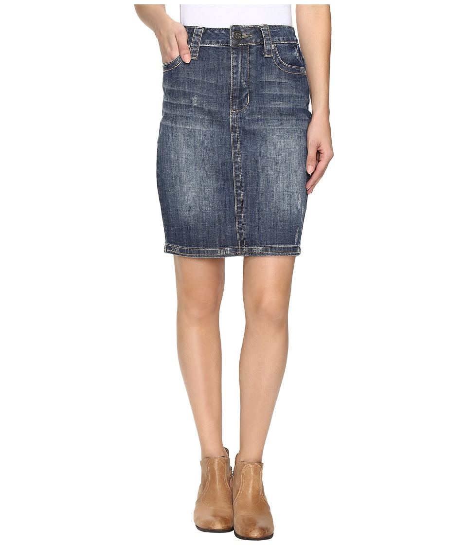 Stetson Pencil Denim Skirt (Blue) Women