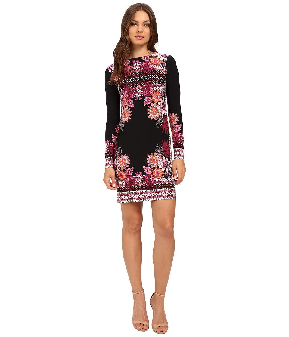 Donna Morgan - Printed Matte Jersey Dress (Black/Flux Multi) Women's Dress