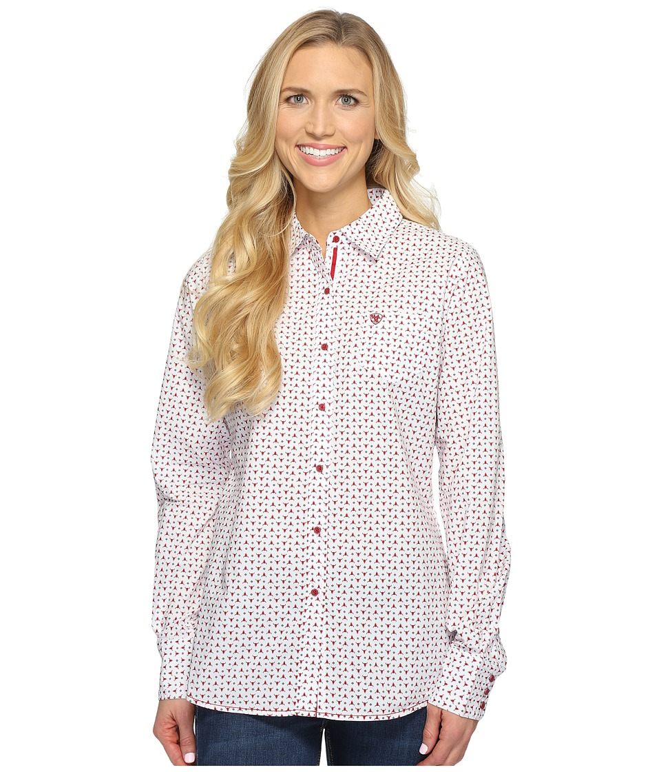 Ariat - Kirby Shirt (White Multi) Women's Long Sleeve Button Up
