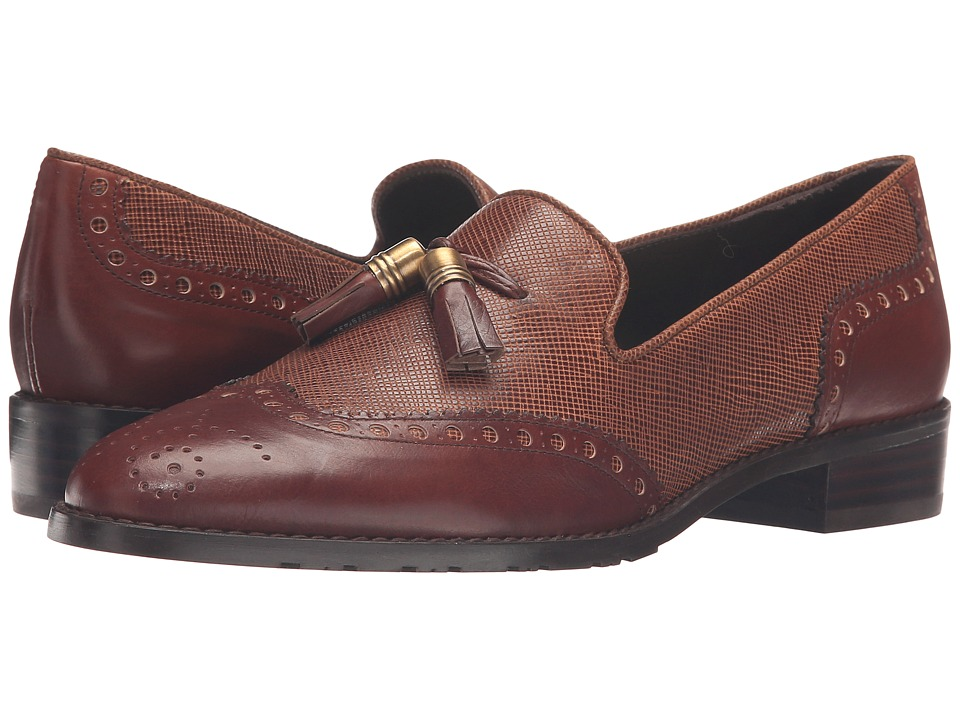 Stuart Weitzman - Guything (Cognac Textured Calf) Women's Slip-on Dress Shoes
