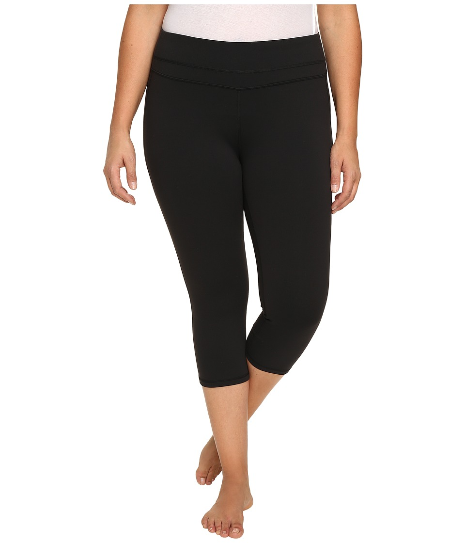Lucy - Extended Studio Hatha Capri Leggings (Lucy Black) Women's Workout