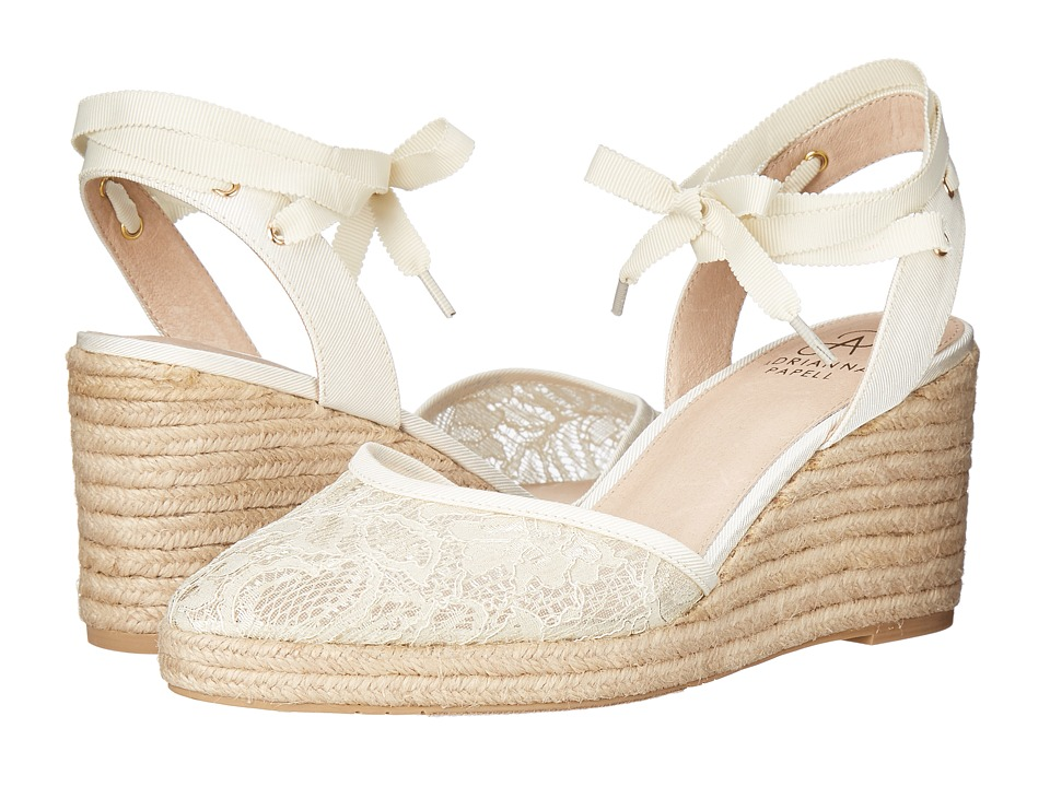Adrianna Papell - Penny (Ivory 1890 Lace) Women's Wedge Shoes