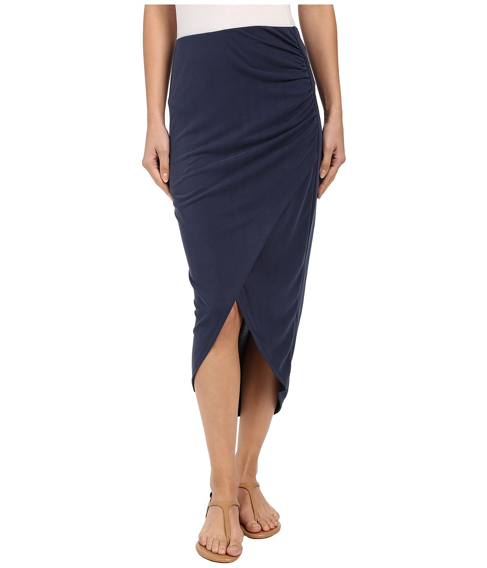Splendid - Sandwash Jersey Wrap Skirt (Coastal Navy) Women's Skirt