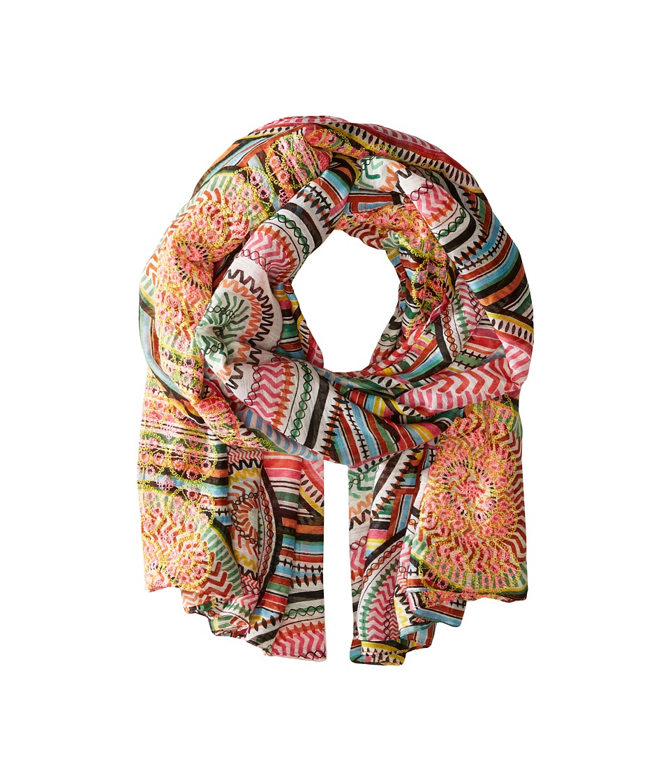 Steve Madden - Modern Tribal Day Wrap (Coral) Scarves