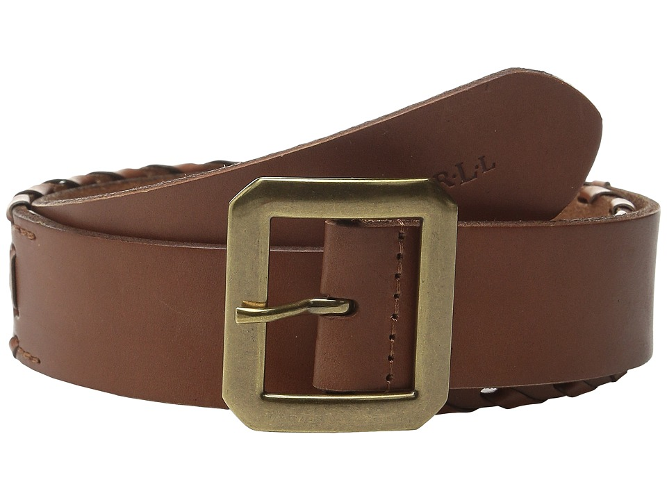 LAUREN Ralph Lauren - Whipstitch Leather 1 1/2 Belt (Lauren Tan) Women's Belts