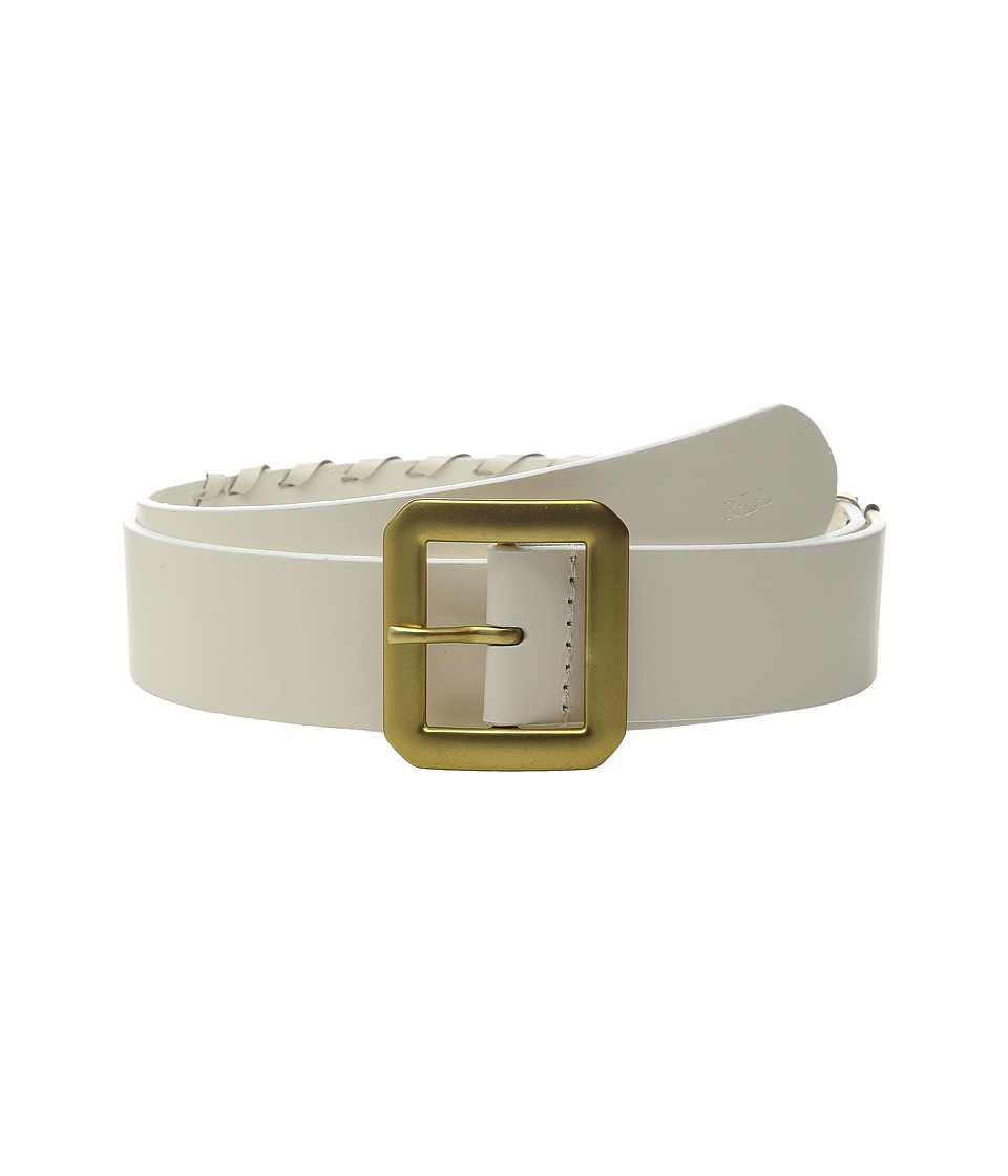 LAUREN Ralph Lauren - Whipstitch Leather 1 1/2 Belt (Vanilla) Women's Belts