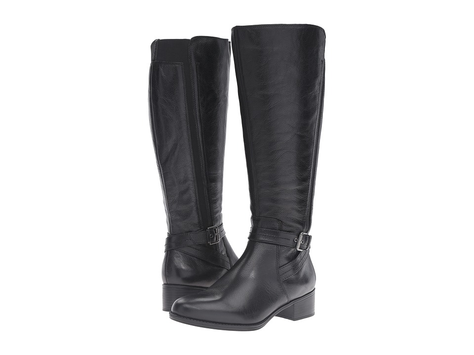 Naturalizer - Wynnie Wide Calf (Black Leather) Women's Boots