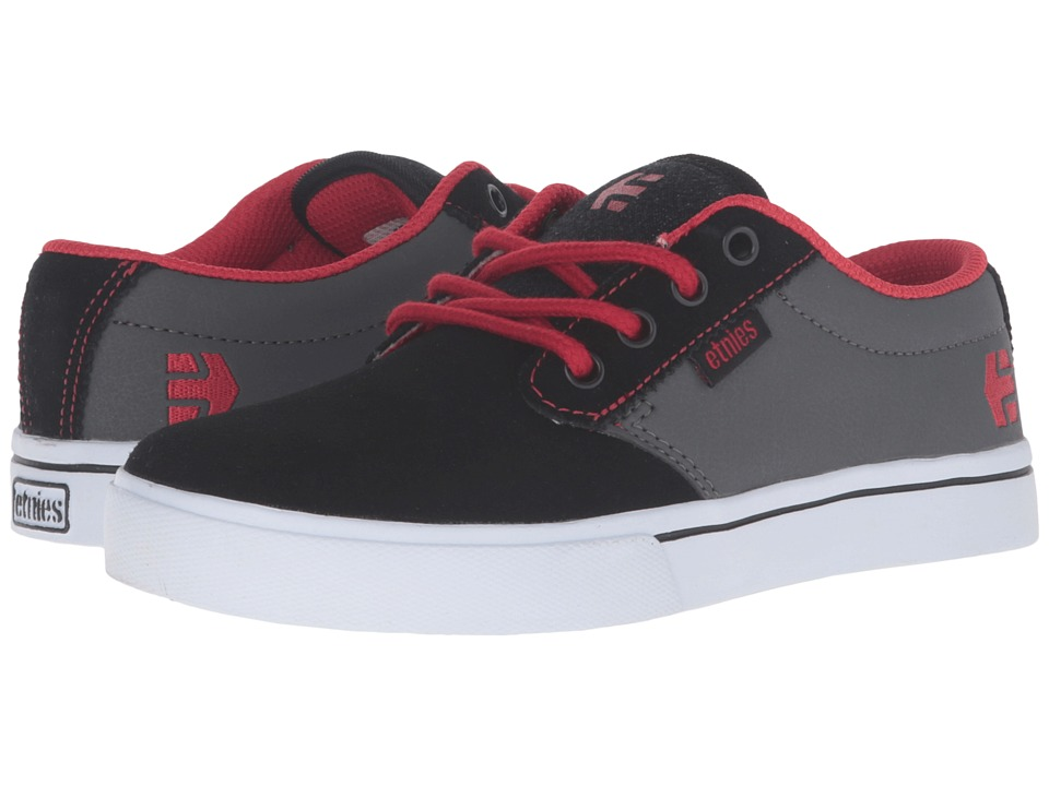 etnies Kids - Jameson 2 Eco (Toddler/Little Kid/Big Kid) (Black/Dark Grey/Red Synthetic/Canvas) Boys Shoes
