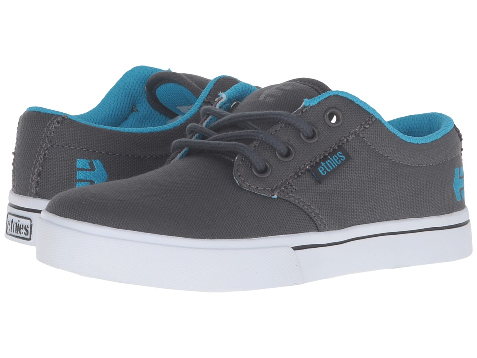 etnies Kids - Jameson 2 Eco (Toddler/Little Kid/Big Kid) (Dark Grey/Blue Canvas) Kids Shoes