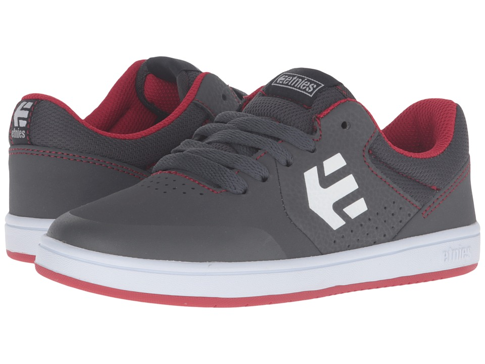 etnies Kids - Marana (Toddler/Little Kid/Big Kid) (Grey/Red/White Suede/Synthetic) Boys Shoes