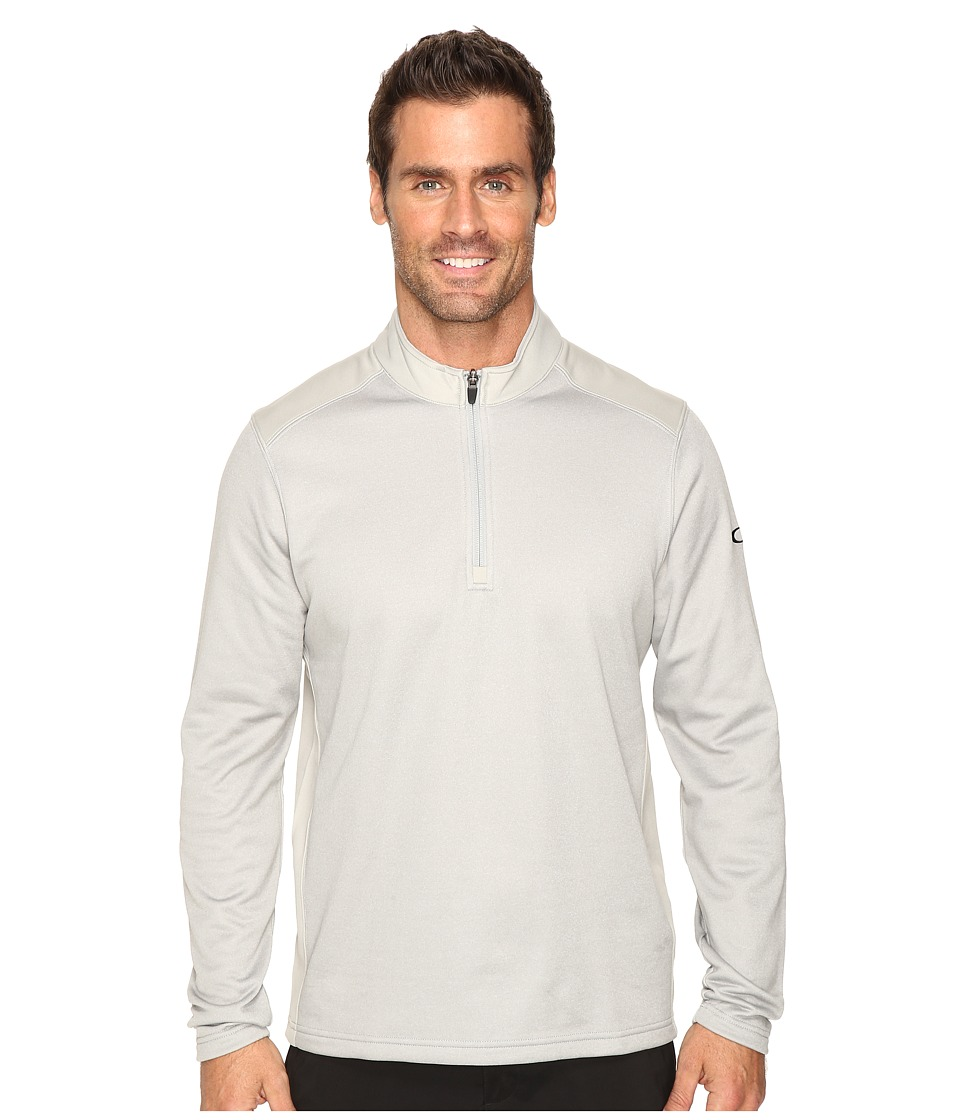 Oakley - Range Pullover 1/4 Zip (Stone Gray) Men's Clothing