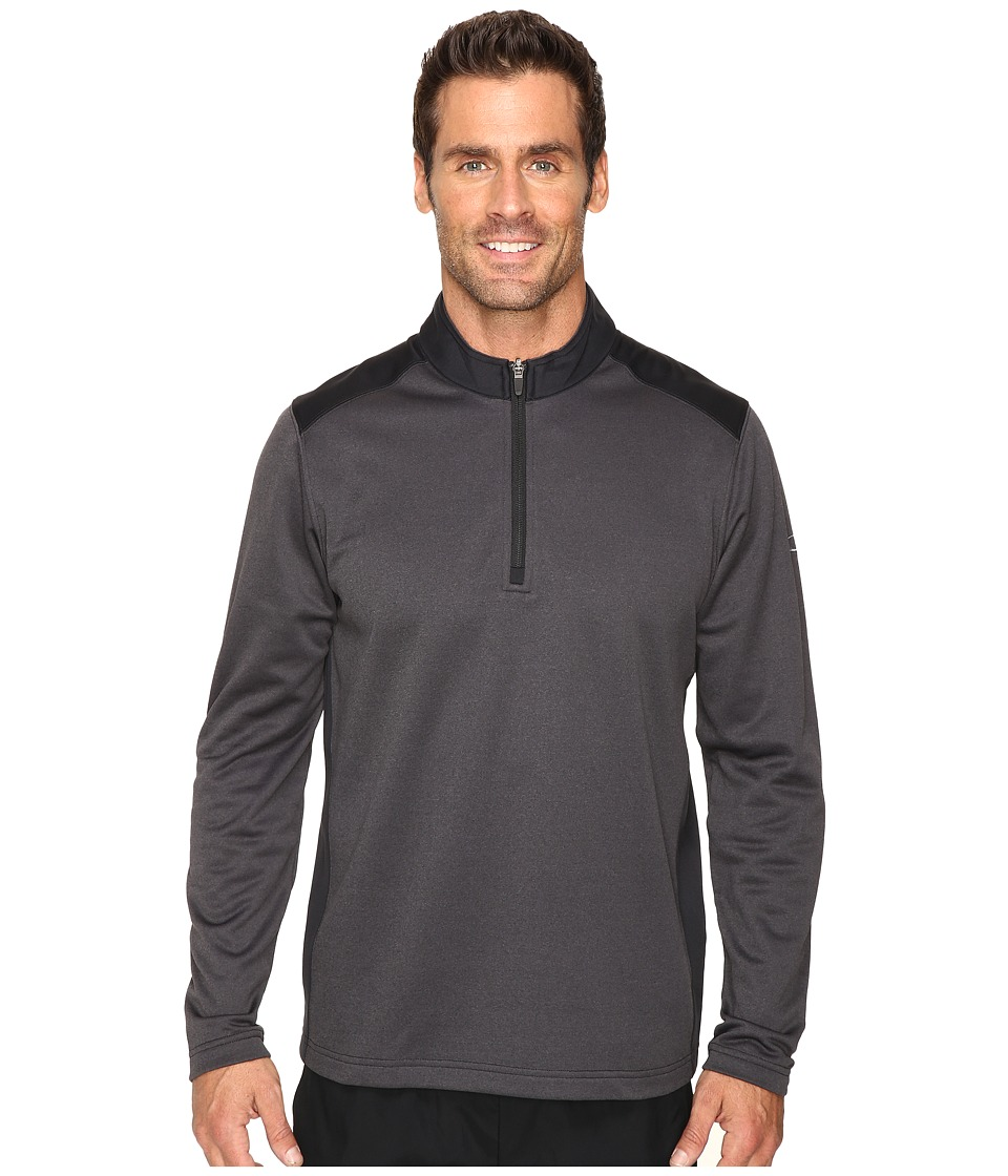 Oakley - Range Pullover 1/4 Zip (Black) Men's Clothing