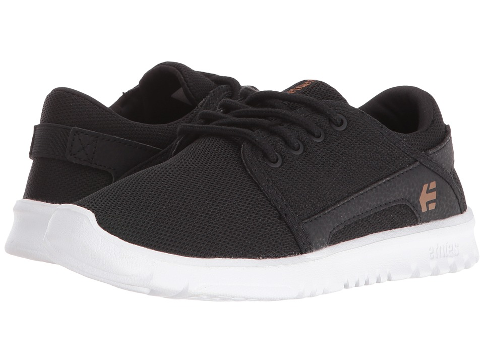 etnies Kids - Scout (Toddler/Little Kid/Big Kid) (Black/White/Gum Textile/Synthetic) Boys Shoes