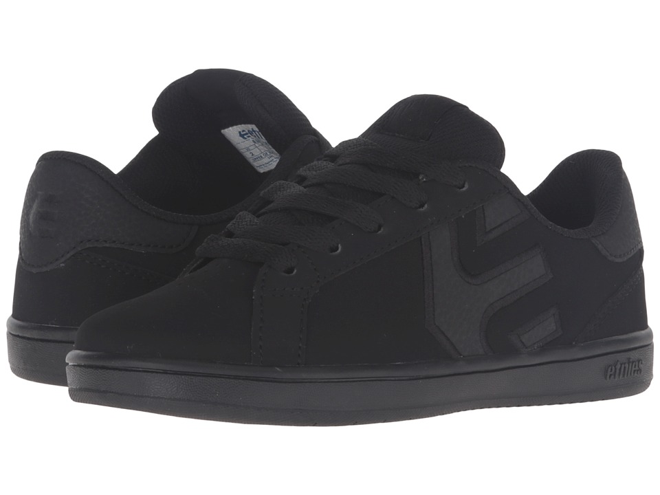 etnies Kids - Fader LS (Toddler/Little Kid/Big Kid) (Black Dirty Wash/Action Nubuck/Textile/Synthetic) Boys Shoes