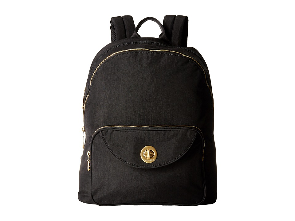 Baggallini Gold Brussels Laptop Backpack (Black) Backpack Bags