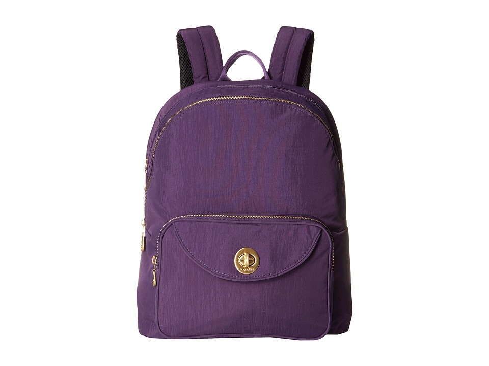 Baggallini - Gold Brussels Laptop Backpack (Grape) Backpack Bags