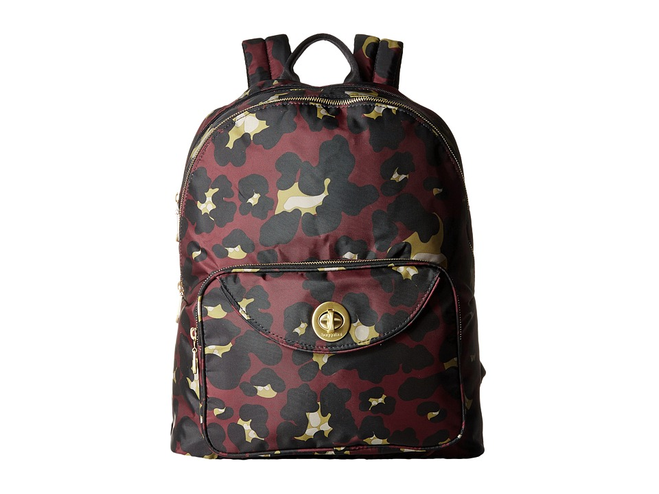 Baggallini - Gold Brussels Laptop Backpack (Scarlet Cheetah) Backpack Bags