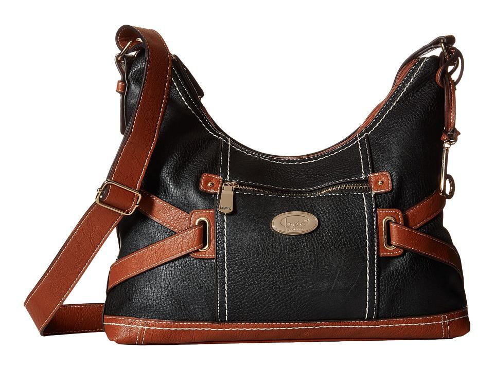 b.o.c. - Parkslope Crossbody (Black/Red) Cross Body Handbags